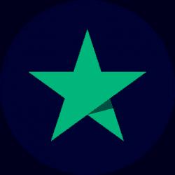 Trustpilot logo Round Star BlueBG 420x420